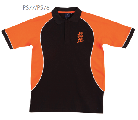 ARC Polo with orange sleeve